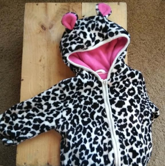 9169558d8 Children's Place One Pieces | Leopard Print Infant Onesie Coat ...